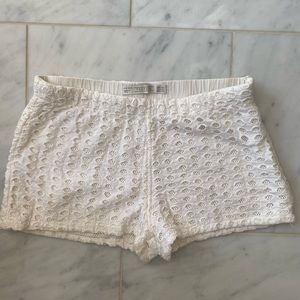 Zara Women's Eyelet White Shorts
